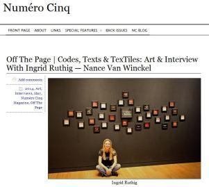 Numéro Cinq article header May 7 2014