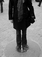 My feet on Point Zéro, Place du Parvis, Paris
